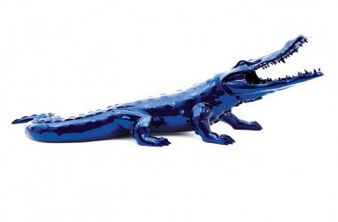 Crocodile résine chromée