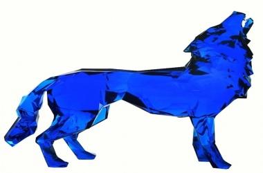 Loup Hurleur Crystal Clear bleu