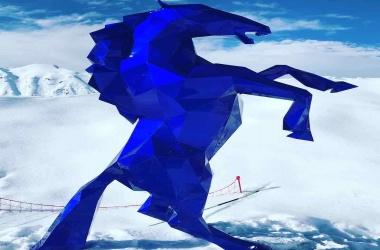 Cheval bleu mick