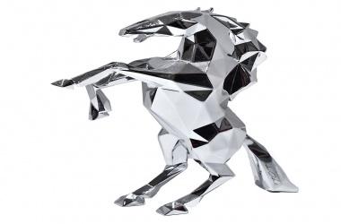 Cheval résine chromée (Horse)
