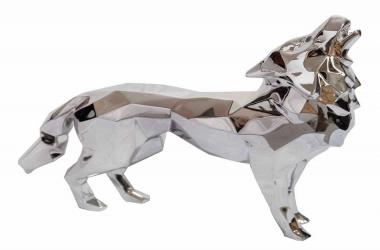 Loup hurleur aluminium (Howling wolf)